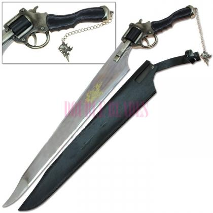 Final Fantasy VIII-8 Squall Functional Gun blade Revolver Sword