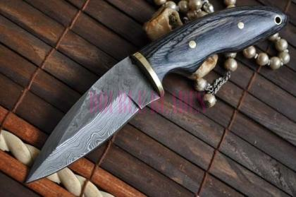 Custom Made Damascus Hunting Knife Filipino Style