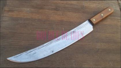 Hammered Carbon Steel Butcher Knife