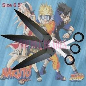 Naruto Kunai Throwing knives Red  3 Pcs