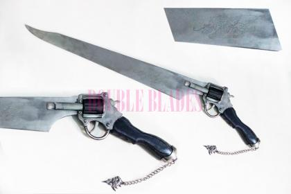 Functional Squall Gunblade Revolver Sword