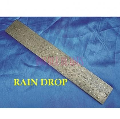 RAIN DROP design Damascus steel construction