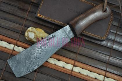 Custom Made handmade Damascus Chef Knife - Machete