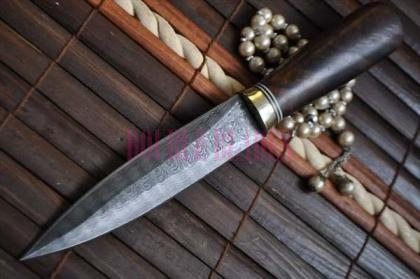Handmade Double Edge Knife Damascus Steel