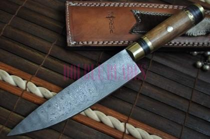 Custom Made Damascus Cheaf Knife - Machete