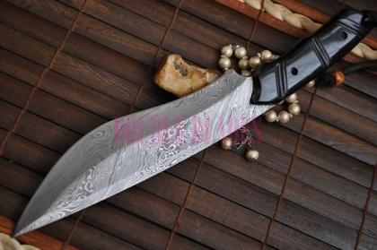 Handmade Damascus Full Tang Bowie Knife