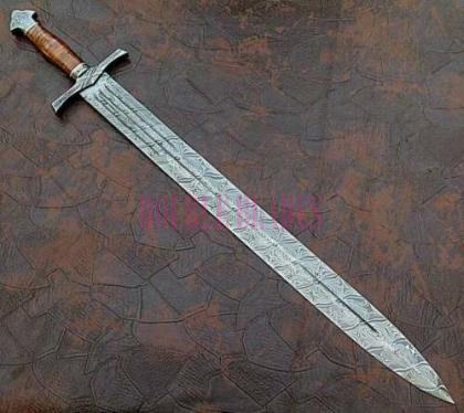 Damascus Steel Sword Full Tang