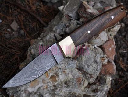 Handmade Damascus Hunting Camping Knife