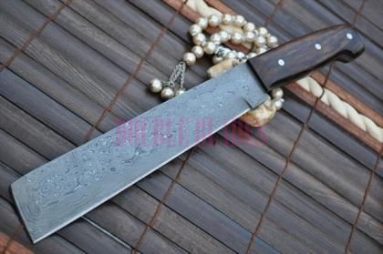Custom HandmadeMade Damascus Chef Knife Wood handle