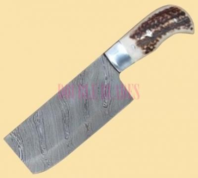 Handmade Chef knife Damascus steel 2.5 inch wide blade