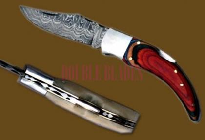 Damascus Steel Laguiole Banana Knife wood Handle