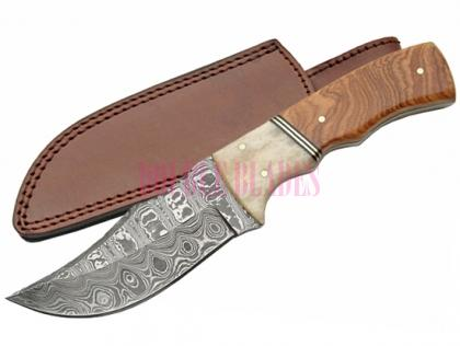 DAMASCUS SKINNER WOOD BONE BOLSTER