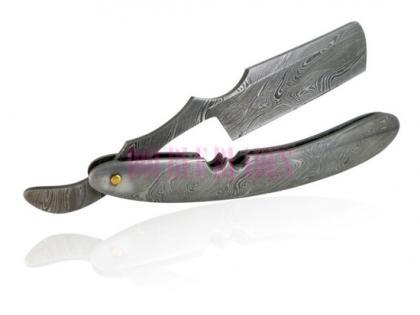 Damascus Steel Shaving Razor Steel Handle