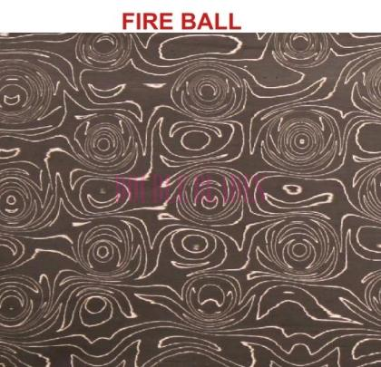 DAMASCUS PATTERNS FIRE BALL