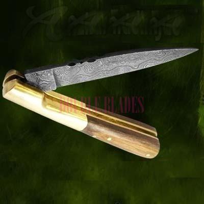 Damascusd Folding knife