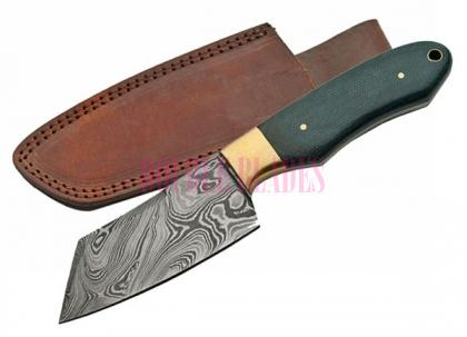 Damascus Hunting Chopper Wood Handle
