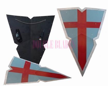 Holy Crusader Kite Shield Steel Templar Heater
