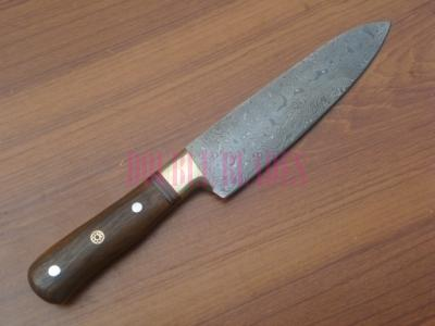 Damascus Kitchen Knife wood Handle
